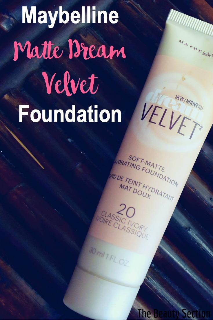 Velvet Matte Swatches: Maybelline Matte Dream Velvet Foundation